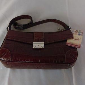 Fossil Genuine Italian Leather Brown Bag